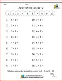 math worksheet : free online math worksheets addition to 10 2  travail mat  : Online Math Worksheet