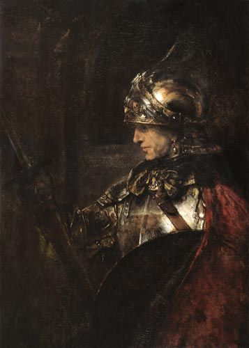 A Man in Armour by Rembrandt van Rijn. Another favorite of mine since seeing it in person.