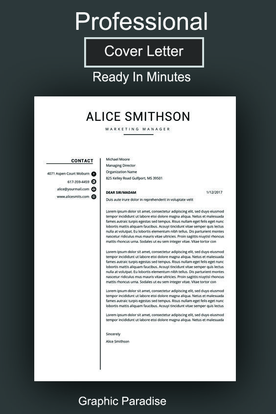 Microsoft Word Resume Template Creative Resume Design With Photo Cv Template For Word Professional Resume 1 And 2 Page Instant Download Professional Skil