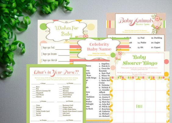 Sweet Little Baby-Baby Shower Games Set by PaperWillowDesigns