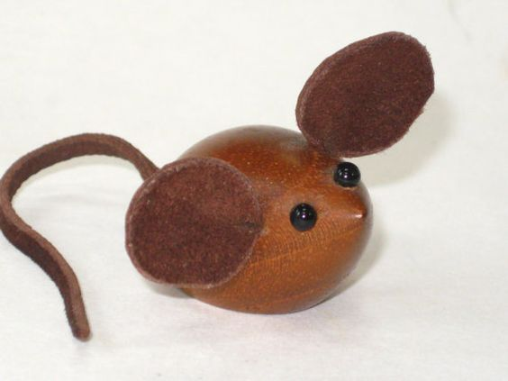 Danish Modern Teak Wood Mouse Figurine Toy Laurids by ModandMore