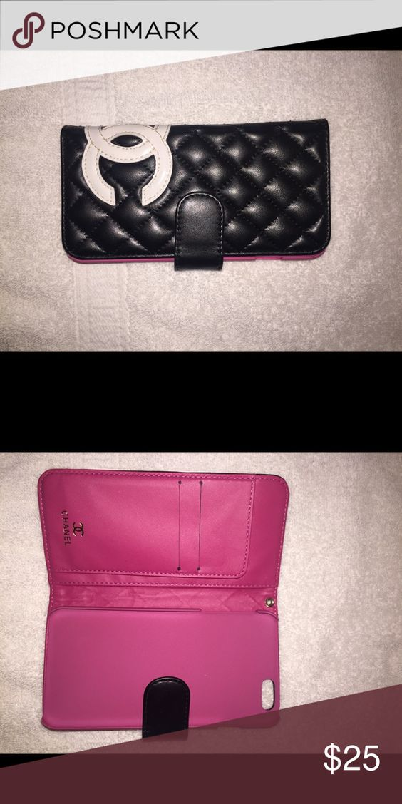 Fashion wallet/phone case Used for about 2 weeks.  Good used condition. For iPhone 6 Plus. Genuine leather.. Accessories Phone Cases