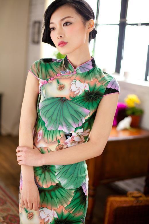 Lily pad Cheongsam