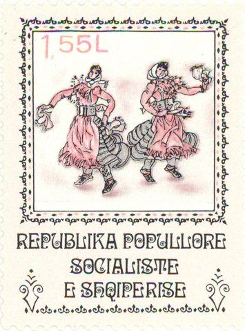Albania  - Two women with kerchiefs.