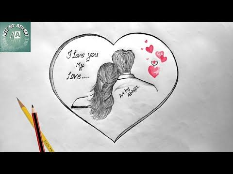 How To Draw Love Heart 2019 Youtube In 2020 Love Heart Drawing Easy Love Drawings Heart Drawing