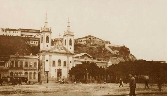 Morro do Castelo e Igreja de Santa Luzia 1921: