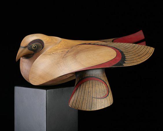 Kahu (Australasian Harrier Hawk) by Rex Homan, Māori artist (KR71204):