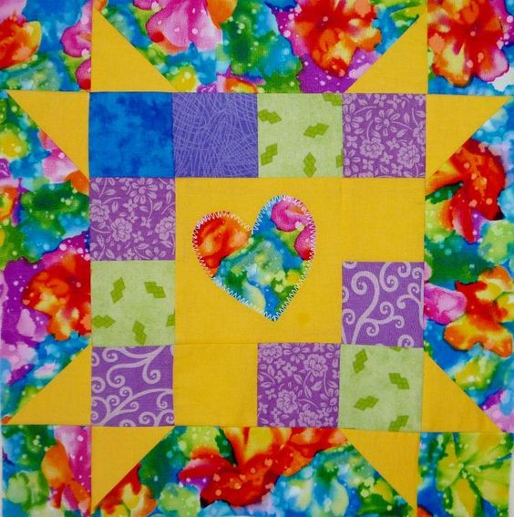 closeGo Together#5 Happy Heart »: Pattern, Quilt Blocks Novelty, Happy Heart