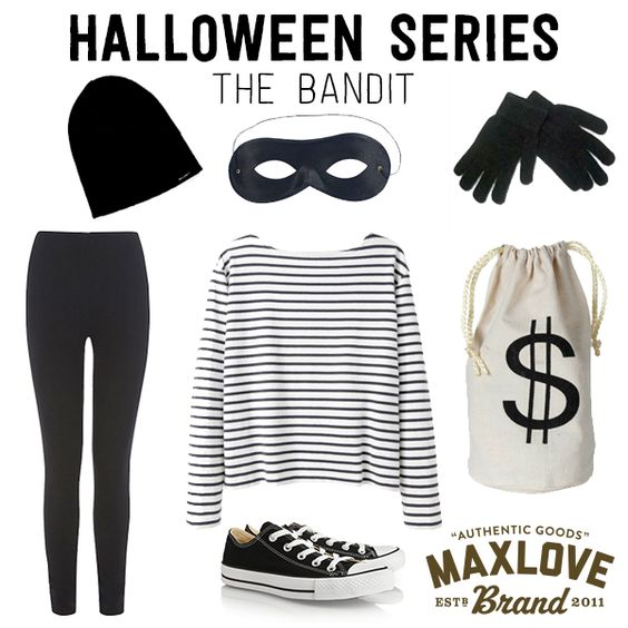 DIY Robber Halloween Costume: