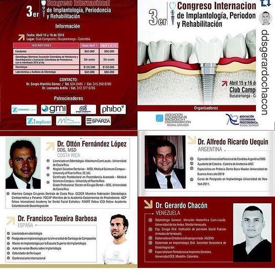 Y la próxima semana estaré en Colombia en el tercer congreso de implantologia Rehabilitacion y PERIODONCIA  #odontologia #odontología #odontologiadigital #dentistry by tuminha_dds Our General Dentistry Page: http://www.myimagedental.com/services/general-dentistry/ Google My Business: https://plus.google.com/ImageDentalStockton/about Our Yelp Page: bit.ly/1KZUPer Our Facebook Page: https://www.facebook.com/MyImageDental Image Dental 3453 Brookside Road Suite A Stockton CA 95219 (209) 955-1500…