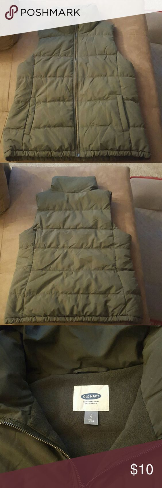 Forest green down vest Warm and comfy forest green down vest size large from old navy. Only worn once in perfect condition. Asking $10. Old Navy Jackets & Coats Vests
