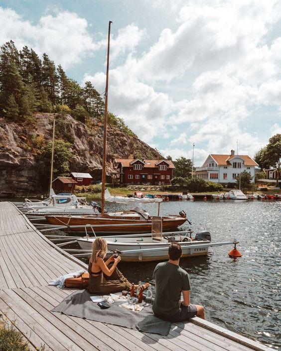Picnic in West Sweden for the Ljungskile tour via @finduslost