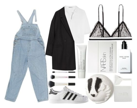 """""""Untitled #101"""" by xssgx ❤ liked on Polyvore featuring adidas, BIA Cordon Bleu, Bobbi Brown Cosmetics, NARS Cosmetics, T By Alexander Wang, LoveStories, American Vintage and Laura Mercier"""