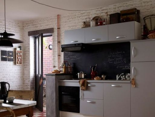 Cuisine Equipee Avec Electromenager Leroy Merlin En Photo Inside