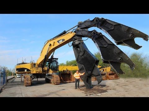 Oxmanagain Youtube Caterpillar Excavators Monster Trucks Hydraulic Shear