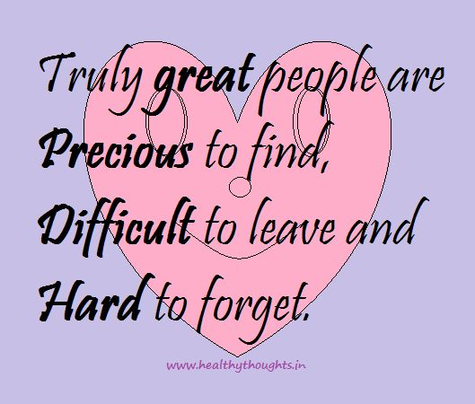 Treasure The Special People In Your Life As They Are Rare