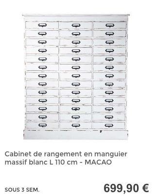 Cabinet de rangement à tiroirs  #MaisonsDuMonde