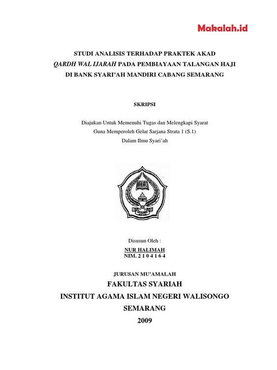 Makalah Id Seperti Apa Sih Judul Skripsi Ekonomi Islam Kualitatif Dan Kuantitatif Terbaik Yang Bisa Anda Gunakan Sebenarnya Sarjana Universitas Negeri Islam
