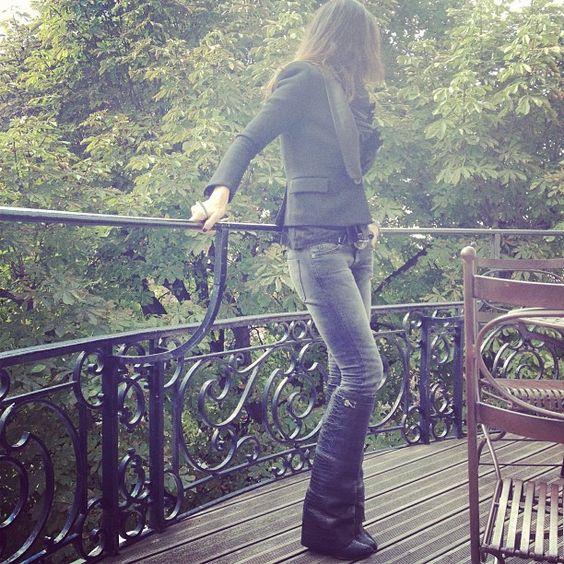 Givenchy boots ,Sacai jacket ,Current Elliott jeans. #montaignemarket #montaignemarketstore #sacai #givenchy #currentelliott