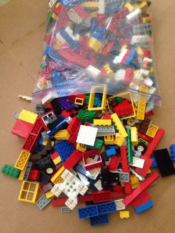 Lego Lot of Blocks 2 10 oz Gal Bag No Men   eBay