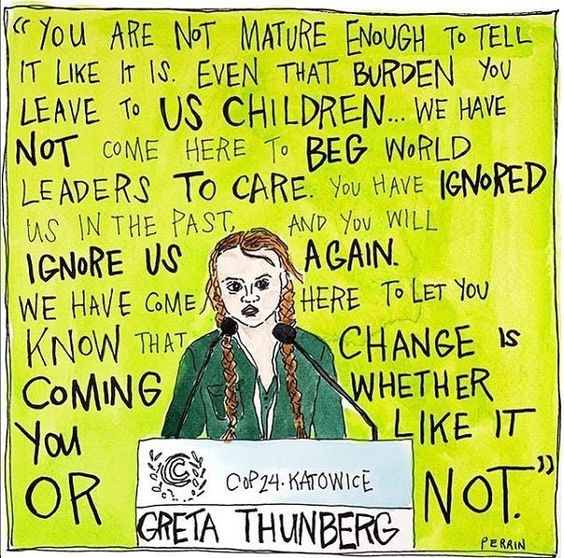 "NRDC on Instagram: ""ICYMI, listen to 15 year-old Greta Thunberg speaking truth to power at the UN Climate Summit in Poland 👇 ""Our civilization is being…"""