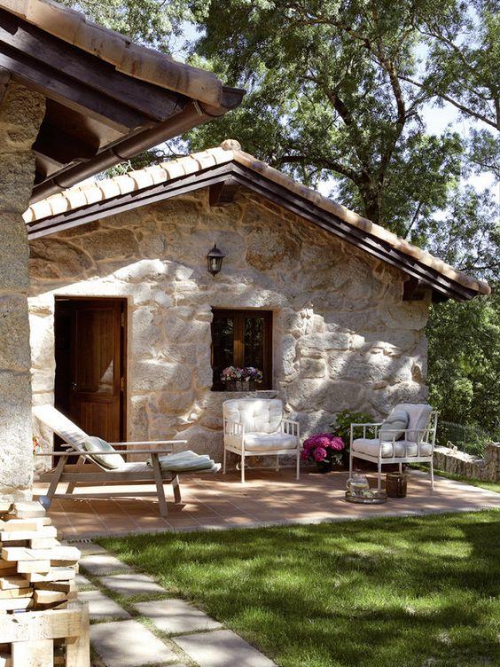 Casas de estilo mediterr neo tejidos and casa on pinterest - Decoracion de casas de campo pequenas ...
