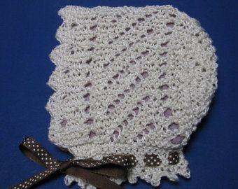 Patrón de Crochet irlandés cordón bebé capó o tapa por KnittyDebby