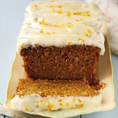 This carrot cake has a spiced nutty sponge topped with an orange cream cheese icing from BakingMad.com is perfect for a coffee morning with friends or a spring time treat!