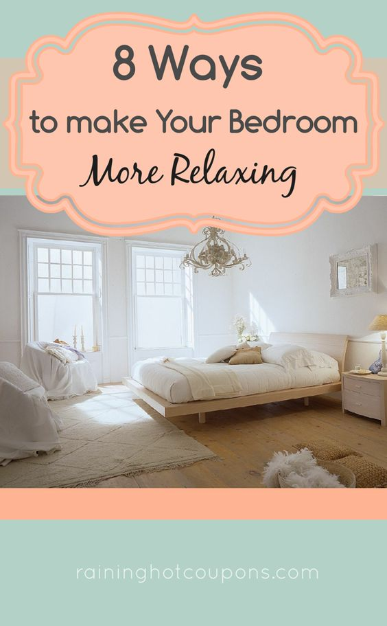 8 ways to make your bedroom more relaxing frugal tips tricks from raining pinterest bed - Tips relaxing bedroom ...
