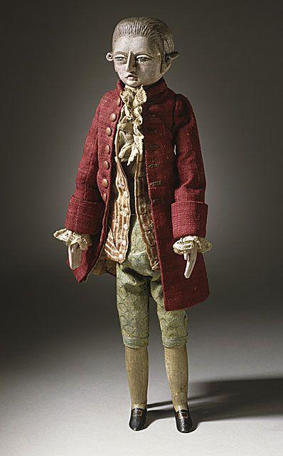 male court doll, circa 1780, France