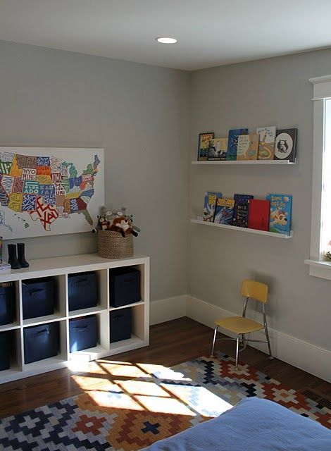 playroom wall color - yep, we chose a light grey for the playroom - love! Pins that I ve done ...