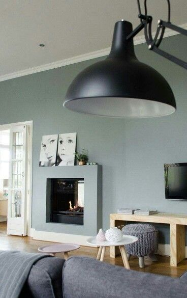 Woonkamer met kleur early dew woonkamer pinterest kleur thuis en toverstokken - Interieurontwerp thuis kleur ...