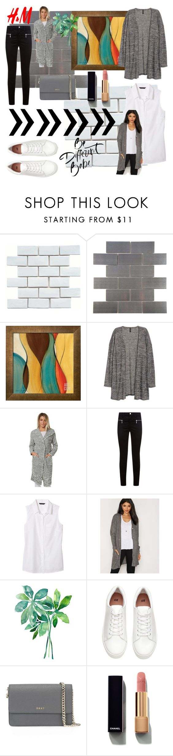 """""""Cardigan"""" by rizqinarahmalia ❤ liked on Polyvore featuring Merola, H&M, MINKPINK, J Brand, Banana Republic, ONLY, DKNY and Chanel"""