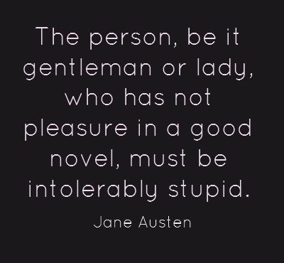 Thank you, Jane Austen!
