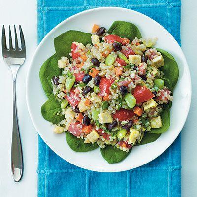 Black Bean-Quinoa Salad with Basil-Lemon Dressing #MeatlessMonday @Cooking Light