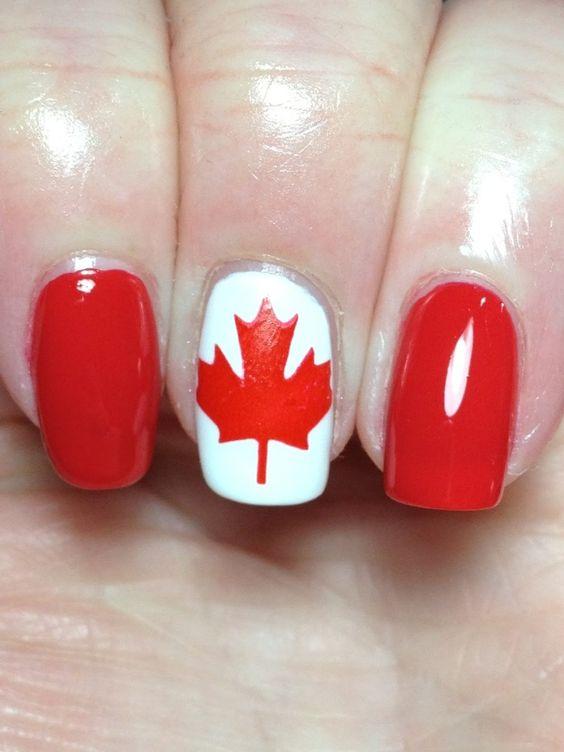 Canada Day Nail Design 2014: