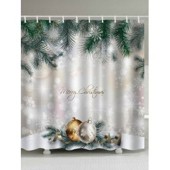 Share Get It Free Christmas Pine Baubles Print Fabric