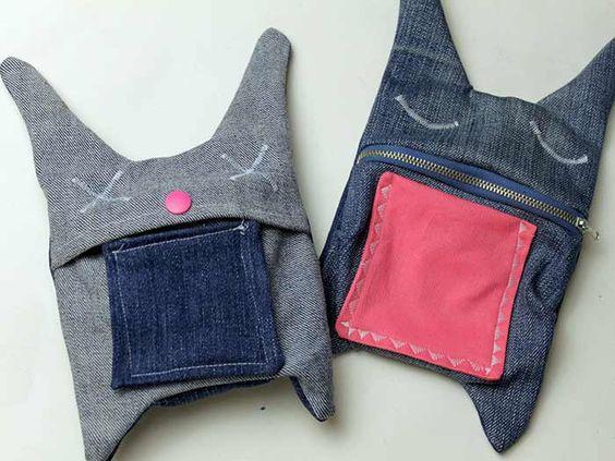 tutoriel diy coudre un sac lapin avec un vieux jean via tutoriels r utiliser et oder. Black Bedroom Furniture Sets. Home Design Ideas