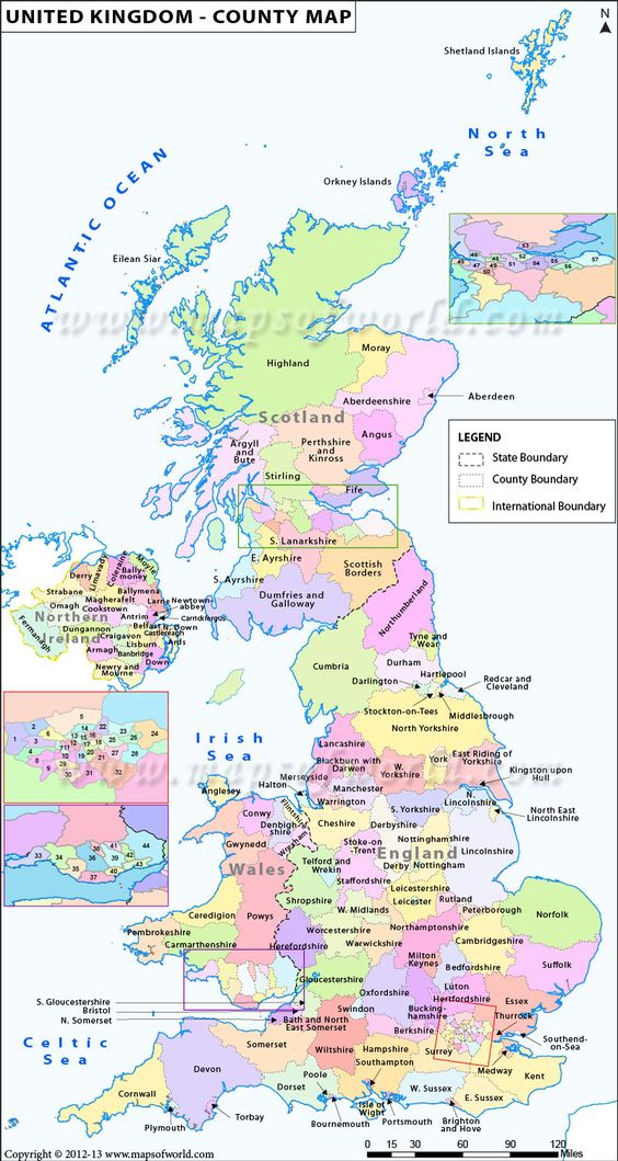 United Kingdom of Great Britain and Northern Ireland – Map Uk Uk Counties