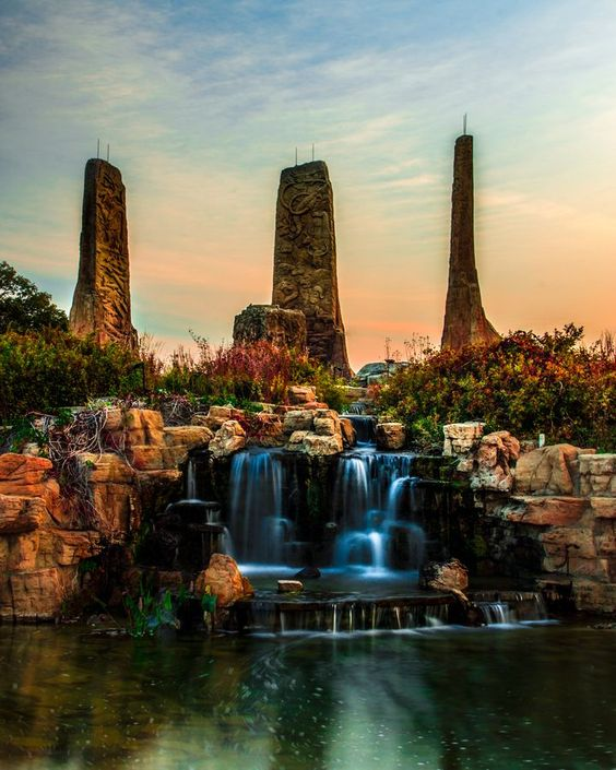 Towers in Time Monument, Ponca State Park, Nebraska