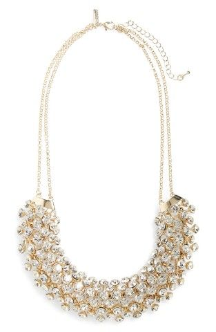 Topshop Rhinestone Statement Necklace | No