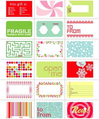 Links to tons & tons of printable gift tags!