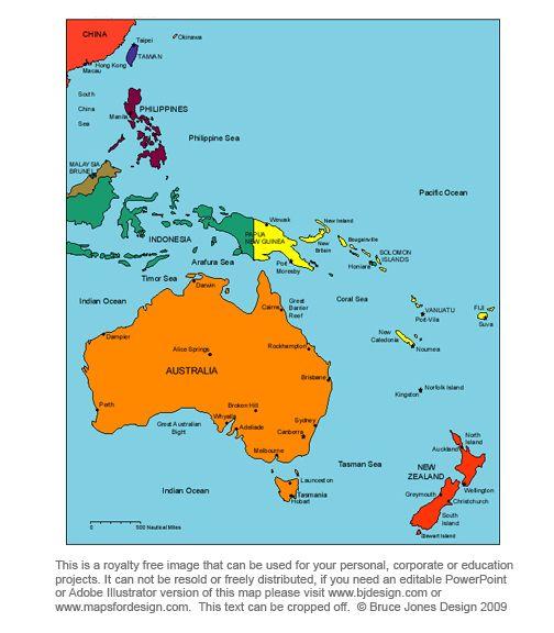 Australia Oceania: Australia Oceania Map, Royalty Free, Printable, Blank, Jpg
