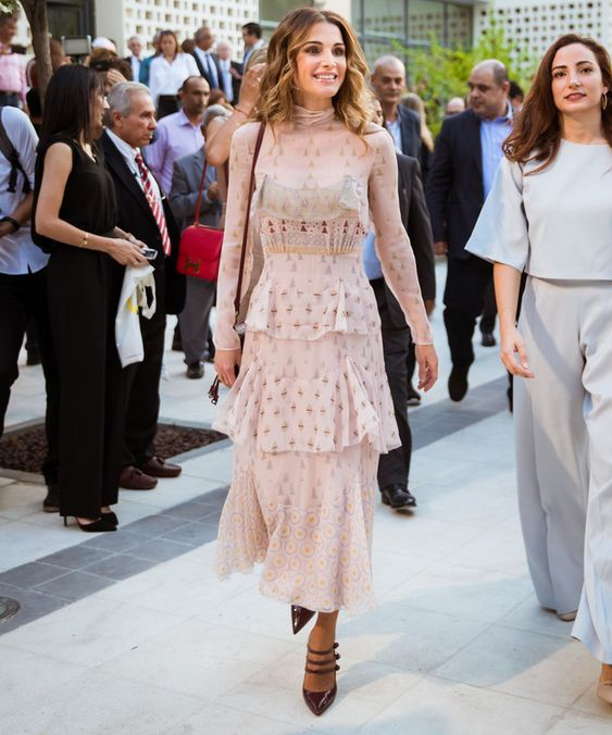 Queen Rania of Jordan Kicks Off Her 46th Birthday in a Dazzling Valentino Dress