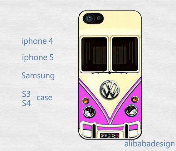 VW Camper Van Purple case Iphone 4 case iphone 4s by AlibabaDesign, $6.88