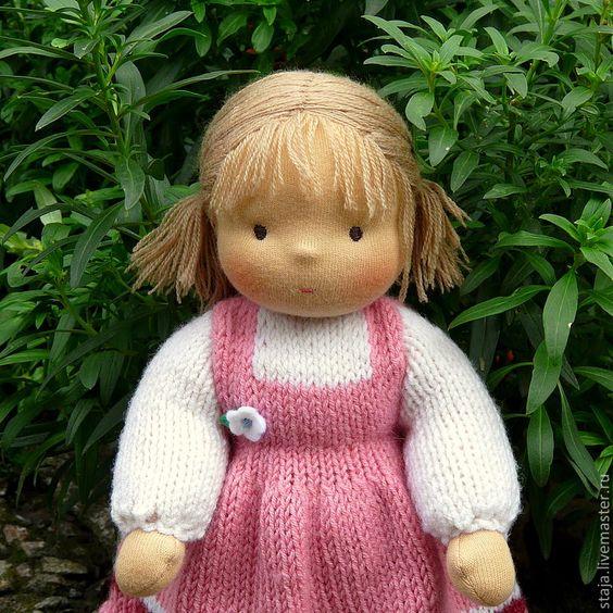 Купить Машенька - вальдорфская кукла, кукла в пришивной одежде, игровая кукла, эко-кукла