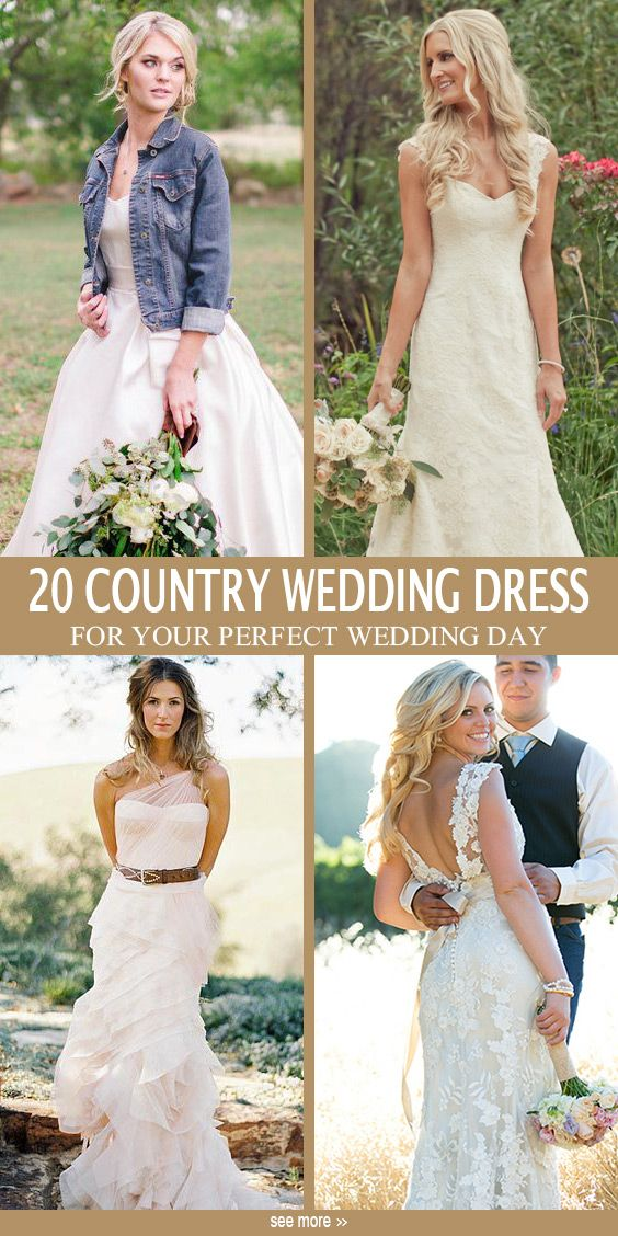 20 Best Country Chic Wedding Dresses Rustic Western Wedding Dresses Country Chic Wedding Dress Simple Wedding Dress Country Country Style Wedding Dresses