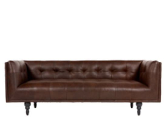 Connor 3 Seater Sofa Vintage Brown Premium Leather Sofa 3