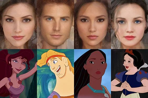 Israeli artist Karen Graw, who works under the name 'Avalonis', has brought to life the characters that have captivated millions of us in these incredible illustrations. (Left to right) Meg, Hercules, Pocahontas, Snow White
