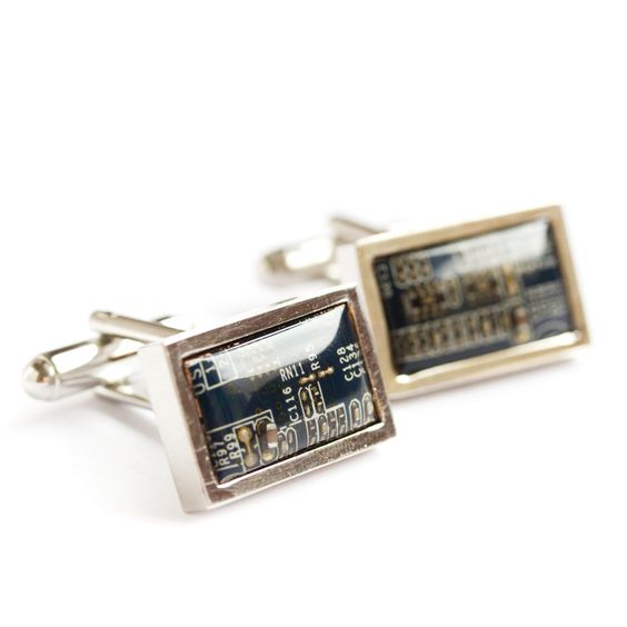 Luxury Circuit board cufflinks, formal suit accessories for men